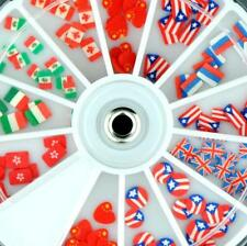 UK Italy China Canada Australia Fimo Slices Nails Art Wheel Decoration Manicure