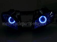Headlight lamp Fully Assembled Blue Angel Eyes For Yamaha YZF R6 2008-2010 2009