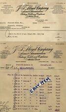1915 BILLHEAD Little Rock Arkansas JT LLOYD CO Arms Ammunition CLEMENTS shotgun