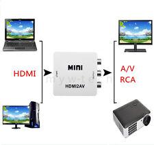 1080P HDMI to 3 RCA CVBS AV Video Audio Composite Converter Adapter 720p For PC