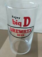 1960s Drewrys Enjoy Big D Shell Beer Glass approximately 4 1/2 inches tall