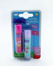 Peppa Pig Lovely Lip Balm 2 Pack Strawberry & Vanilla  4.2g Childrens Lip Care