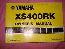 Yamaha 1983 XS400RK Owner's Manual P/N LIT-11626-03-53