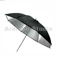 "43"" Black Silver Studio Flash Lighting Umbrella"