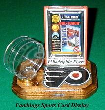 Philadelphia Flyers NHL Sports Card Display Hockey Puck Holder Logo Gift