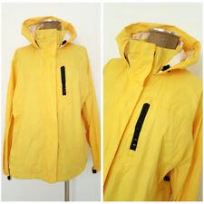 Lands Ends Windbreaker Jacket Size Large Yellow Hoodie Rain Coat Womens