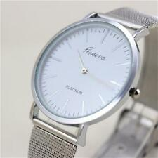 New Luxury Geneva Women's Ladies Stainless Steel Band Watches Quartz Wrist Watch