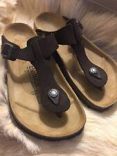NEW BETULA BIRKENSTOCK~ Women's US 7 EUR 37 ~ Gizeh Thong Sandals ~ Brown Suede