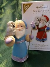 Hallmark 2011 A Visit From Santa KOC Event Repaint Colorway Owl Ornament New