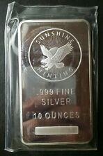 Sunshine Minting 10oz Silver Bar in Plastic