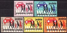 POLAND 1969 Matchbox Label - Cat.Z#953 set, Road safety - the road goes through