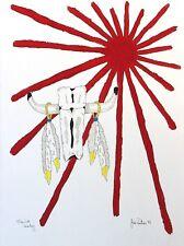 Jim Poitras Original Acrylic Painting Hand Signed Native Spirit Leader II 1993