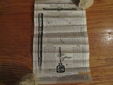 1908 WATERMAN'S IDEAL FOUNTAIN PEN 3 PANEL DIRECTIONS & SUGGESTIONS BOOKLET