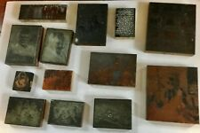 New listing Antique Printer Blocks Lot Russian Military Soldiers Priests More Wood Copper