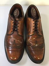 Vintage Sibley's Detroit Wingtip Men's Dress Shoe Brown Sz 10 1/2 C