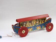 Vintage Gong Bell MFG Noah's Ark Tin Pull Toy in Original Box