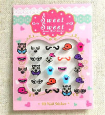 Korea Design Nail Stickers Sweet Hats Eyes Dolls Sticker For Nail Beauty Gift S