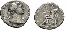 Ancient Rome Trajan AD 108 SILVER DENARIUS ROME Aequitas