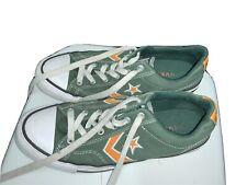 Converse  All Star Low Trainer Sneaker  Green/  Orange Unisex Size Uk 7 Eu 40