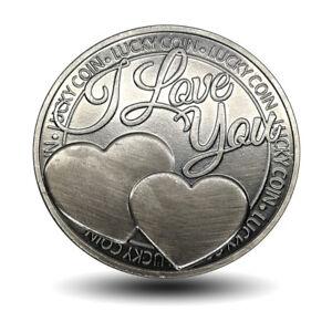 Commemorative coin lucky love word romance couple collection art gift souvenirBD