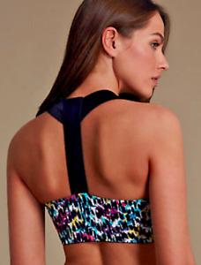 *NEW* exM&S High Impact Sports Bra Racerback Running Gym Tennis Size S - Small