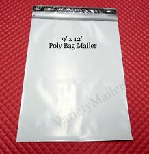 "10 Poly Bag Shipping Envelopes 9""x 12"" Self-Sealing Plastic Postal Mailers"
