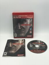 Metal Gear Solid 4: Guns of the Patriots (Sony PlayStation 3, 2008) with manual