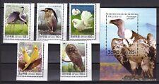 KOREA 2003 MNH BIRDS ISSUE + SOUVENIR SHEET