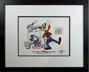 Autographed Disney MGM Studo Cel GOOFY Bill Farmer It's a Wrap Framed