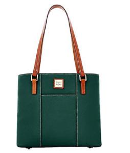 Dooney & Bourke Pebble Leather Lexington Shopper Green Tan Ivy & Dustbag NWT
