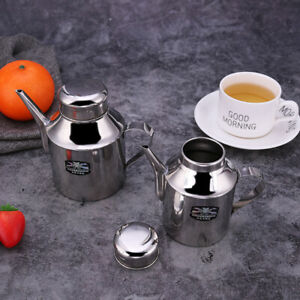 Stainless Steel 512ml Gravy Boat Sauce Jug Lid Pourer Silver Home Office Tool/