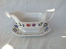 ADAMS OLD COLONIAL GRAVY BOAT & STAND VERY GOOD USED CONDITION FIRST QUALITY