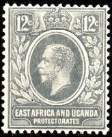 1921 East Africa & Uganda Protectorate Sg 69 12c slate-grey Mounted Mint