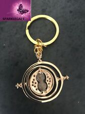 NEW GP HARRY POTTER TIME TURNER HERMIONE GRANGER ROTATING SPIN HOURGLASS KEYRING