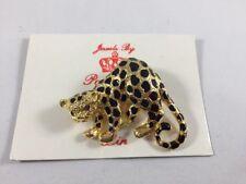 Pendant Combo Black Spots Red Eyes New Park Lane Cheetah Brooch Big Cat Pin