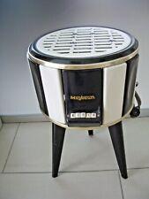 Maybaum Elektro Ofen Heizung schwarz / weiß Emaille Beistelltisch Blumenhocker