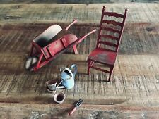 Miniatures dollhouse jardin 1:12 beautiful pieces realistic art aged chair