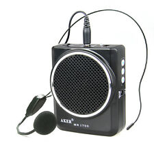 Portable Voice Amplifier MP3 Speaker Microphone Headset Waist For Teach Meeting