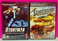 Stuntman + Stuntman Ignition 1 2  - PS2 Playstation 2 Tested Game Lot Working