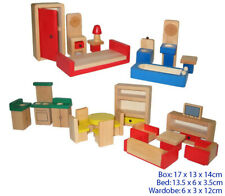 Fun Factory Wooden Doll House Furniture 26pc Set