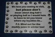 FUN dog notice - Border collie - Labrador - Spaniel - Yorkie - Man's best Friend