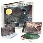 NEW 2004 POLAR EXPRESS TRAIN 4 Piece Set Christmas BOOK CD TAPE & BELL ORNAMENT!