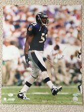 RAY LEWIS SIGNED 16x20 COLOR PHOTO     AWESOME POSE     BALTIMORE RAVENS   JSA