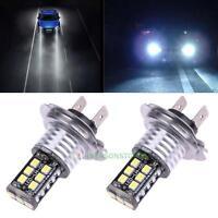 2Pcs LED H7 Car White 6000K HID Conversion Headlight Bulb Light Kit High Beam