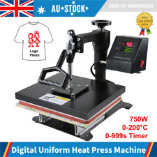 "750W 12"" Heat Press Transfer T-Shirt Sublimation Printer Printing Machine Timer"