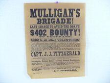 Civil War Battlefield Map Reward & Recruiting Posters Historical Documents c1961