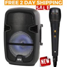 Wireless SPEAKER W/ MICROPHONE Bluetooth Portable Dj Rechargeable LED Karaoke