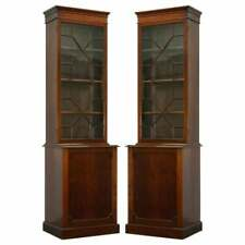 Pair Of Large Tall Antique Victorian Mahogany Astral Glazed Library Bookcases