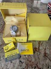 Invicta womens watch silver Face with white rubber wristband