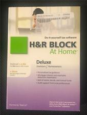 H & R Block Deluxe Investors / HomeownerTax Software 2013 Federal /State